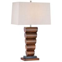 Minka-Lavery 10036-0 Signature 31 inch 100 watt Walnut and Black Table Lamp Portable Light Ambience