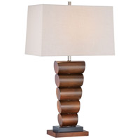 Signature 31 inch 100 watt Walnut/Black Table Lamp Portable Light