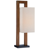 Signature 29 inch 100 watt Walnut Table Lamp Portable Light