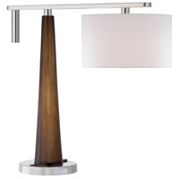 Ambience 20 inch Polished Nickel with Walnut Table Lamp Portable Light
