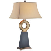 Minka-Lavery Signature 1 Light Table Lamp in Brown And Black And Gold 10041-0