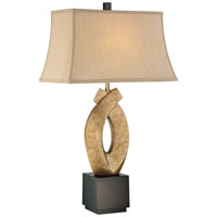 Minka Lavery Signature 1 Light Table Lamp in Black & White Crackle 10058-0