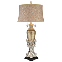 Minka-Lavery Jessica Mcclintock Home 2 Light Table Lamp in Silver and Worthington 10118-0