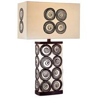 Minka-Lavery 10122-0 Signature 26 inch 100 watt Black and White Table Lamp Portable Light Ambience