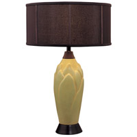 Minka-Lavery Signature 1 Light Table Lamp in Green 10166-0