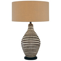Minka-Lavery Signature 1 Light Table Lamp in Cream and Brown 10172-0