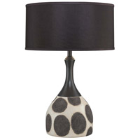 Minka-Lavery 10174-0 Signature 28 inch 150 watt Cream with Black Table Lamp Portable Light Ambience