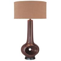 Minka-Lavery 10190-0 Signature 35 inch 100 watt Dark Chocolate Table Lamp Portable Light Ambience