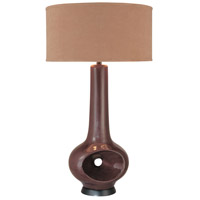 Signature 35 inch 100 watt Dark Chocolate Table Lamp Portable Light