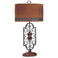 Minka-Lavery 10360-0 Signature 34 inch 150 watt Brown with Grey Table Lamp Portable Light Ambience