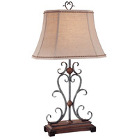 Minka-Lavery 10361-0 Signature 100 watt Wood and Silver Table Lamp Portable Light Ambience