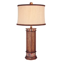 Minka-Lavery 10373-0 Minka Lavery 150 watt Brown Wood Look Table Lamp Portable Light