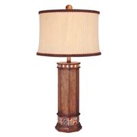 Minka-Lavery 10373-0 Minka Lavery 150 watt Brown Wood Look Table Lamp Portable Light