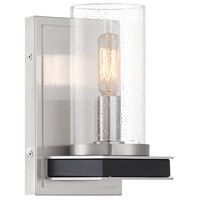 Minka-Lavery 1051-691 Cole's Crossing 1 Light 5 inch Coal/Brushed Nickel Wall Sconce Wall Light
