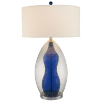 Signature 33 inch 150 watt Clear and Blue Inside Table Lamp Portable Light