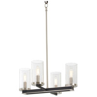 Minka-Lavery 1054-691 Coles Crossing 4 Light 18 inch Coal/Brushed Nickel Pendant Ceiling Light