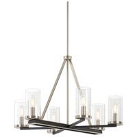 Minka-Lavery 1056-691 Coles Crossing 6 Light 26 inch Coal/Brushed Nickel Chandelier Ceiling Light