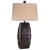 Signature 150 watt Dark Brown Table Lamp Portable Light