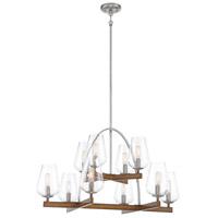 Minka-Lavery 1069-699 Birnamwood 10 Light 32 inch Koa Wood/Pewter Chandelier Ceiling Light