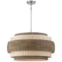 Minka-Lavery 1074-84 Montauck Bay 4 Light 20 inch Brushed Nickel Pendant/Semi Flush Ceiling Light