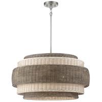 Minka-Lavery 1075-84 Montauck Bay 5 Light 25 inch Brushed Nickel Pendant Ceiling Light