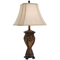 Minka-Lavery Signature 1 Light Table Lamp in Rustic Walnut And Bronze 10822-0