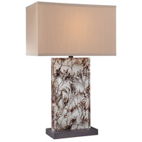 Signature 29 inch 150 watt Clear And Grass Table Lamp Portable Light