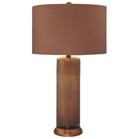 Minka-Lavery 10865-0 Signature 150 watt Brown Glass Table Lamp Portable Light Ambience