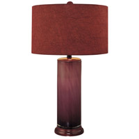 Signature 150 watt Purple Table Lamp Portable Light in Purple Fabric