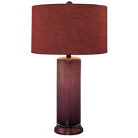 Minka-Lavery 10865-2 Signature 150 watt Purple Table Lamp Portable Light in Purple Fabric