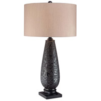Minka-Lavery Signature 1 Light Table Lamp in Black 10871-0