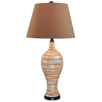 Signature 34 inch 150 watt Beige Table Lamp Portable Light