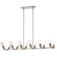 Minka-Lavery Downtown Edison 12 Light Island Light in Brushed Nickel 1134-84