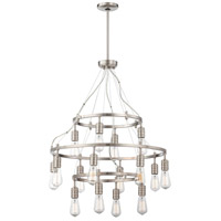 Minka-Lavery Downtown Edison 8 Light Chandelier in Brushed Nickel 1139-84