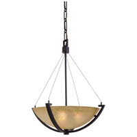 Raiden 3 Light 23 inch Iron Oxide Pendant Ceiling Light
