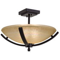 Minka-Lavery Raiden 2 Light Semi-flush in Iron Oxide 1184-357