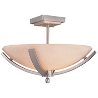 Minka-Lavery 1184-84 Raiden 2 Light 19 inch Brushed Nickel Semi Flush Mount Ceiling Light photo thumbnail