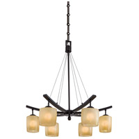 Minka-Lavery 1186-357 Raiden 6 Light 28 inch Iron Oxide Chandelier Ceiling Light