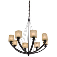 Minka-Lavery 1188-357 Raiden 8 Light 34 inch Iron Oxide Chandelier Ceiling Light