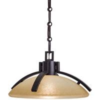Minka-Lavery Raiden 1 Light Pendant in Iron Oxide 1189-357