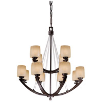 Raiden 12 Light 34 inch Iron Oxide Chandelier Ceiling Light