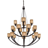 Raiden 20 Light 44 inch Iron Oxide Chandelier Ceiling Light