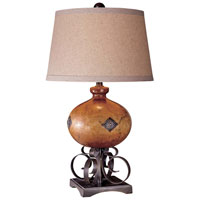 Minka-Lavery Signature 1 Light Table Lamp in Clay Brown and Iron Oxide 12202-0
