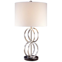 Minka-Lavery Signature 1 Light Table Lamp in Brushed Nickel 12208-0
