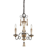 Minka-Lavery Jessica McClintock Accents Provence 3 Light Mini Chandelier in Provence Pantina 1233-580