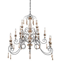 Minka-Lavery Jessica McClintock Accents Provence 15 Light Chandelier in Provence Patina 1235-580 photo thumbnail