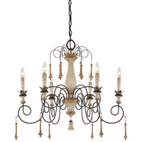 Minka-Lavery Jessica McClintock Accents Provence 6 Light Chandelier in Provence Patina 1236-580 photo thumbnail