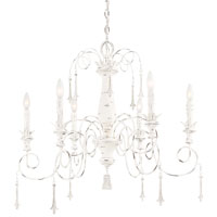 Minka-Lavery Jessica McClintock Accents Provence 6 Light Chandelier in Provencal Blanc 1236-648