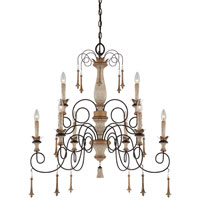 Minka-Lavery Jessica McClintock Accents Provence 9 Light Chandelier in Provence Patina 1239-580