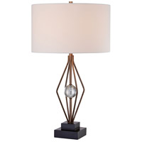 Signature 28 inch 100 watt Silver Leaf Table Lamp Portable Light